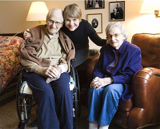 a woman with old couple in happy mood a section image for Southlake Elder Law, Medicaid and VA Planning