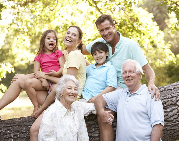 a happy family group photo a section image for Southlake Estate Planning Attorneys